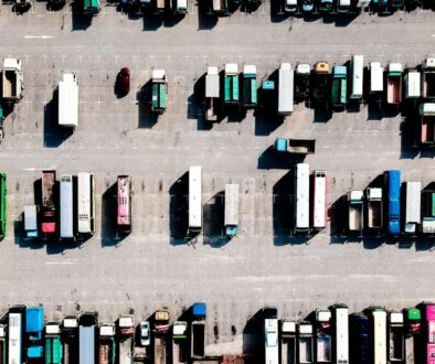 aerial photo of parking lot during daytime